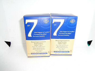 2pc Solgar No. 7 Join Support and Comfort  30 Vegetable Caps EXP 08/20