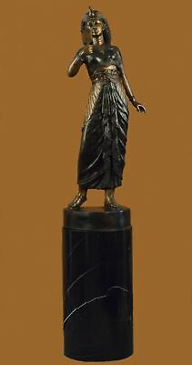 CLEOPATRA QUEEN OF EGYPT EGYPTIAN Handcrafted Bronze Sculpture Statue Figurine T