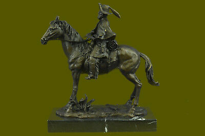 Bronze Collectible Museum Quality Western Old Remington Sculpture Statue T