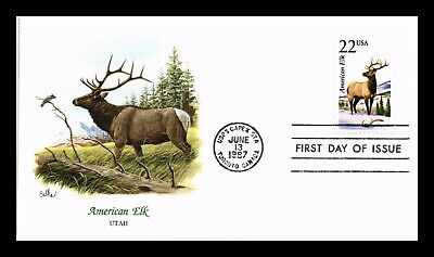 Dr Jim Stamps Us American Elk Wildlife Capex Event Fdc Cover