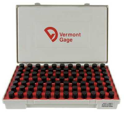 VERMONT GAGE 901100800 Pin Gage Set,Plus,0.751-0.832 In,Black