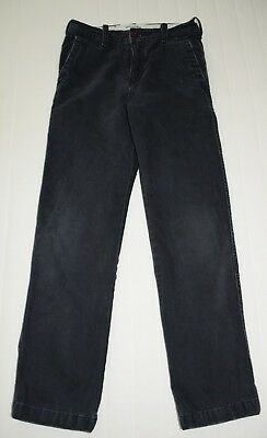 Abercrombie & Fitch very dark navy worn look chino boys 12 slim