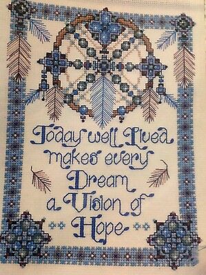 Joan Elliott Native American Dream catcher Sampler Cross Stitch Chart