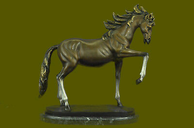 Precioso Moderno Caballo Hot Cast Movimiento Bronce Escultura Estatua Figurita