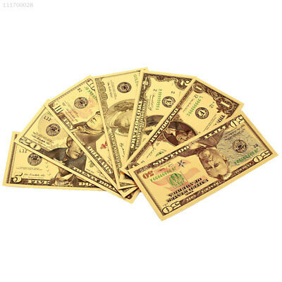 535F 24K Gold Plated Dollars Commemorative Notes Decoration Gold Antique Plated