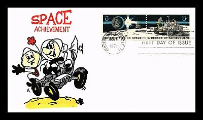 Dr Jim Stamps Us Space Achievement Ellis Hand Colored Combo Fdc Cover
