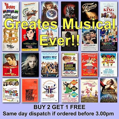 Movie Poster Musical Theatre Poster Musicals Posters Film Musical Posters Film