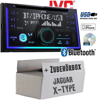 JVC Autoradio für Jaguar X-Type CD Bluetooth Android Apple MP3 USB Einbauset
