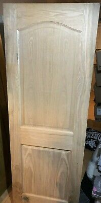 2 Panel Arched Oak veneer Internal Door (H)1981mm (W)686mm