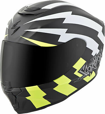 Scorpion EXO-R420 TRACKER Full-Face Motorcycle Helmet (White/Neon Yellow) 2XL