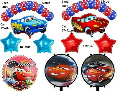 Cars Lightning McQueen Large Helium Birthday Party Foil Balloon Party Pack