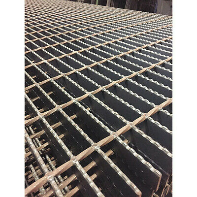 DIRECT METALS 21188R150-B12 Bar Grating,Serrated,24in.W x 1.5in.H