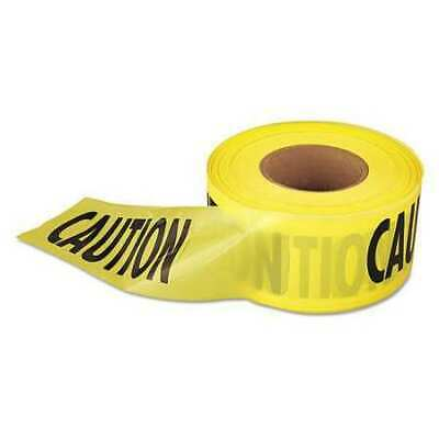 """EMPIRE 272711001 Caution Barricade Tape,3""""x1000ft,Ylw/Blk"""