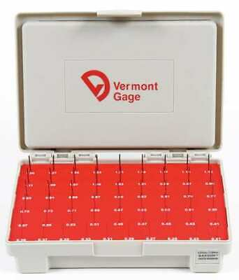 VERMONT GAGE 902400100 Pin Gage Set,Minus,0.21-1.29mm,Black