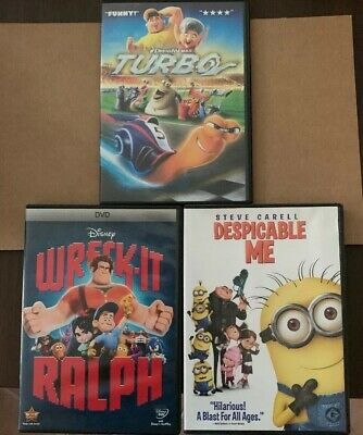 Wreck-It Ralph, Turbo And Despicable Me 1 (DVD, 2013, Canadian Bilingual 3D)