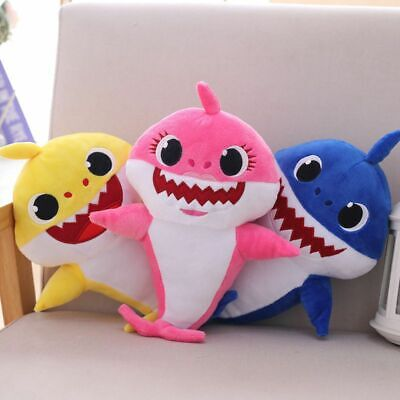 Baby Shark Cartoon Stuffed Plush Singing Toys Music Doll English Song Gift Kids