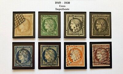 FRANCE Ceres Scott # 1, 2, 3, 3a, 6, 6b, 7, 9 VF – XF Used