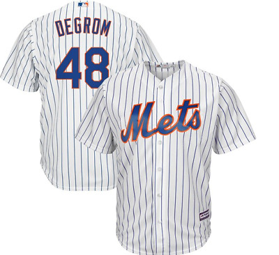 Majestic Big & Tall New York Mets Home #48 Baseball Jersey New Mens Sizes