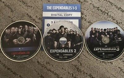 the expendables 3 film collection bluray/digital (NO CASE)