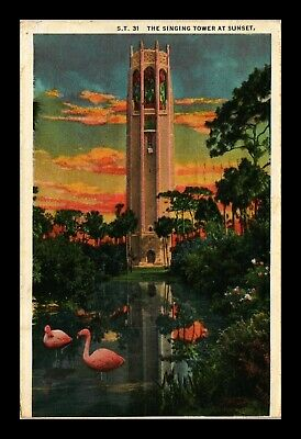 Dr Jim Stamps Us Singing Bok Tower Lake Wales Florida View Postcard