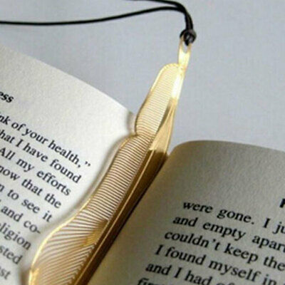8x Gold Plated Hollow Animal Feather Bookmark Book Paper Reading Acces MLT