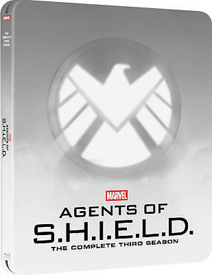 Mavels Agents of S.H.I.E.L.D. Season 3 Three Steelbook (Blu-ray) NEW!! SHIELD