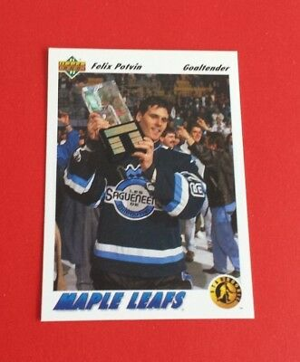 1991/92 Upper Deck Hockey Felix Potvin Card #460***Toronto Maple Leafs***