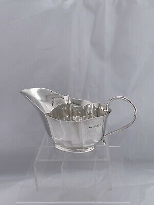 Solid Silver ART DECO Sauceboat 1938 London Josiah Williams Sterling Silver