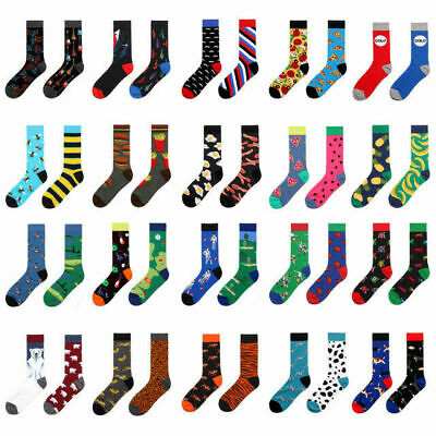 23 Style Mens Funny Novelty Socks Crazy Cute Cool Cotton Food animal Crew Socks
