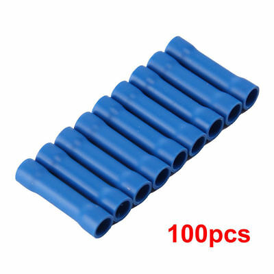 100X Insulated Electrical Wire Cable Terminal Crimp Connectors BV2 Blue