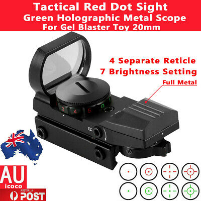 Red Green Dot Sight Reticle Reflex Holographic Metal Scope For Gel Blaster 20mm