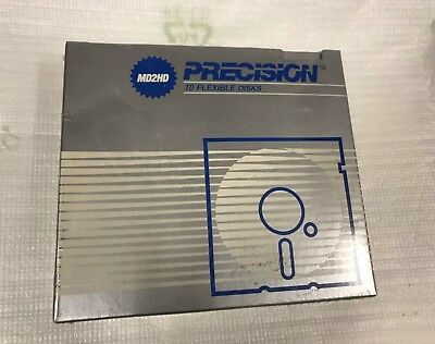 Brand New PRECISION MD2HD 10pcs pack FLEXIBLE DISKS