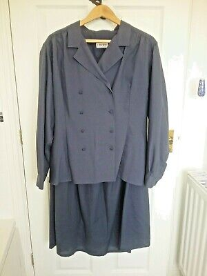 Liberty vintage pure wool skirt suit 1950s style size 16 Very good condition