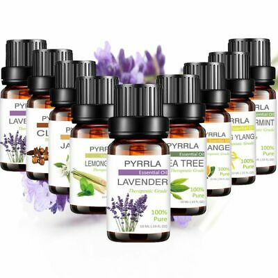 8 Pcs/set Essential Oils 10ml 100% Natural Pure Aromatherapy Fragrance Diffuser