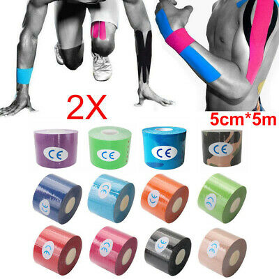 5cm*5m Roll Kinesiology Tape   Sports Physio Knee Shoulder Body Muscle Support