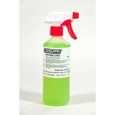 """""""Super Fabric Cleaner"""" from """"CHROME """"  3 x 500ml Bottles FOR £15.00"""