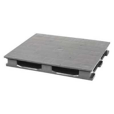 "PARTNERS BRAND CPP736C Rackable Closed Deck Pallet,48""x40""x5 7/10"",Gray"