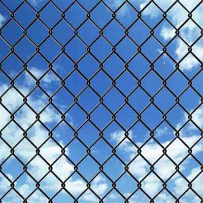 vidaXL Chain-Link Fence Set with Posts and Hardware 1.97x25 m Grey