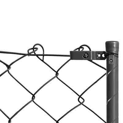 vidaXL Chain-Link Fence Set with Posts and Hardware 1x15 m Grey