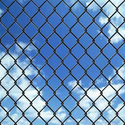 vidaXL Chain-Link Fence Set with Posts and Hardware 1x25 m Grey