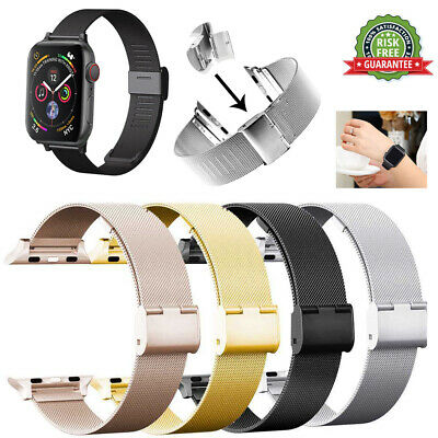 Apple Watch 4/3/2/1 38/42mm Lolan Buckle Loop Hebilla Correa de reloj Pulsera
