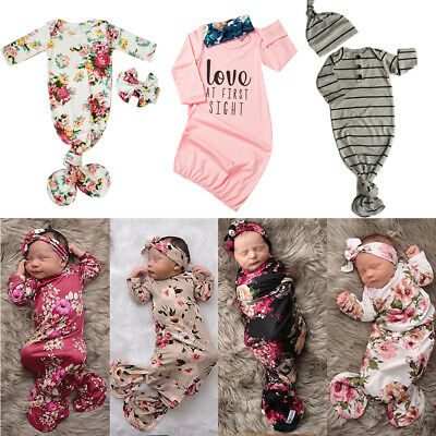 Baby Sleeping Bags Newborn Infant Blanket Swaddle Wrap Long Sleeve Outfits Gown