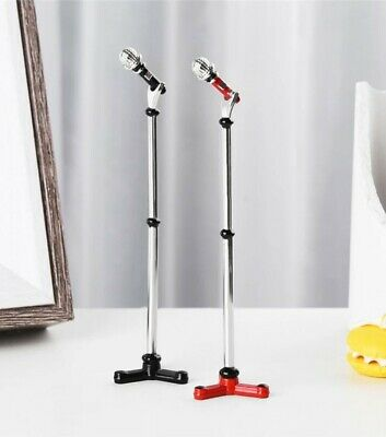 Miniature dolls house accessories Microphone  and microphone stand 1:12th scale