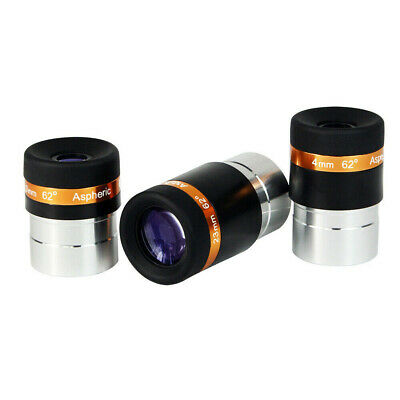 """4mm/10mm/23mm Aspheric Eyepiece for 1.25""""/31.7mm Astronomical Telescopes UK Ship"""