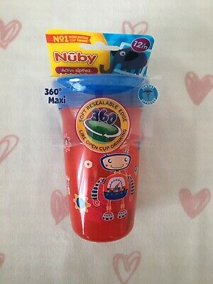 Robot 360 Nuby Trainer Sipeez No Spill Cup with Lid 300ml 12 Months + BPA Free