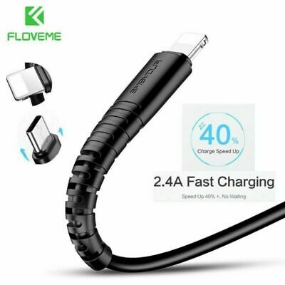 FLOVEME 0.3m/1m For iPhone Micro USB Type C Data Sync Charger Cable Lightning