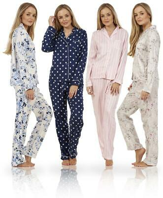 Ladies Gorgeous Button Up Long Sleeve PJ'S Elasticated Boyfriend Pyjamas