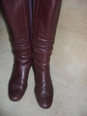 """N/NEW IMPORTED """" CAMPER""""  DEEP MAROON KNEE LENGTH BOOTS, SIZE  eu 36 - aus.6"""