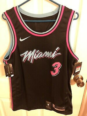 quality design 8806d bb901 MIAMI HEAT #3 Dwyne Wade *CITY* MIAMI VICE NIGHTS Nike ...