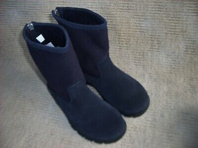 New Lands'end   Imported (Usa) Fully Fleece Lined Calf Length   Boots,  Sz 6